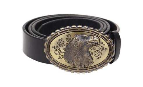 obrázek Kožený pásek černý var.25