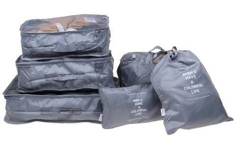 obrázek Cestovní organizér do kufru 6ks šedý