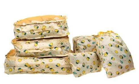 obrázek Cestovní organizér do kufru 6ks žlutý s citróny