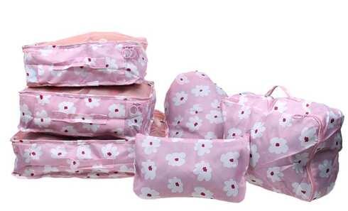 obrázek Cestovní organizér do kufru 6ks růžový s květy