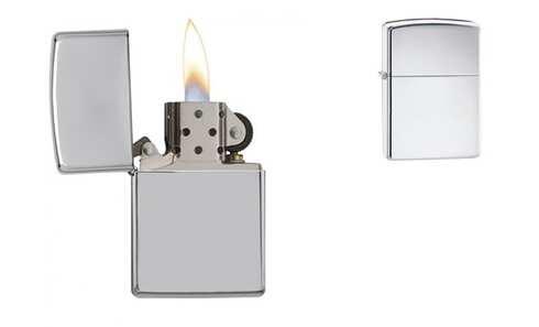 obrázek Benzínový zapalovač stříbrný