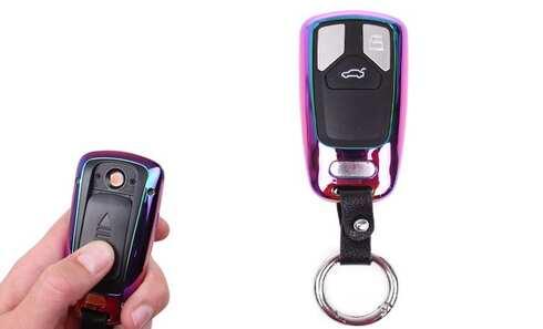 obrázok USB zapaľovač kľúč od auta dúhový