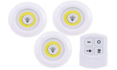 obrázok  LED svetlo s ovládačom 3 ks