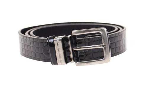 obrázek Kožený pásek černý var.27