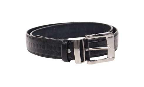 obrázek Kožený pásek černý var.29