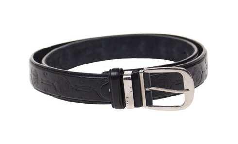 obrázek Kožený pásek černý var.35