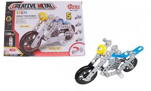 obrázok Kovová stavebnica motorka