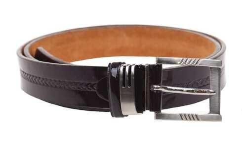 obrázek Kožený pásek hnědý var.28