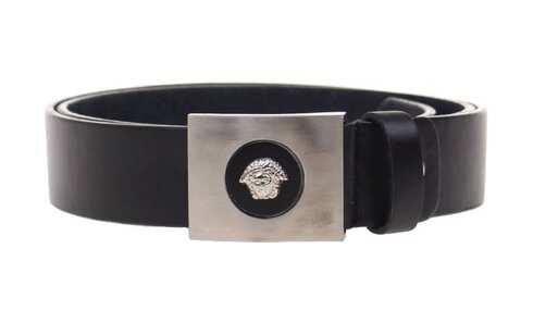 obrázek Kožený pásek černý var.47