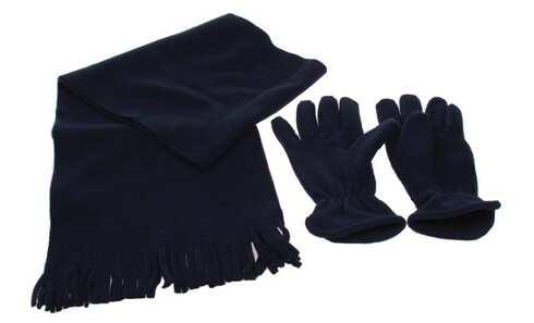 obrázok Šál s rukavicami tmavo modrá