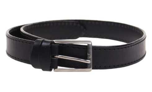 obrázek Kožený pásek černý var.56