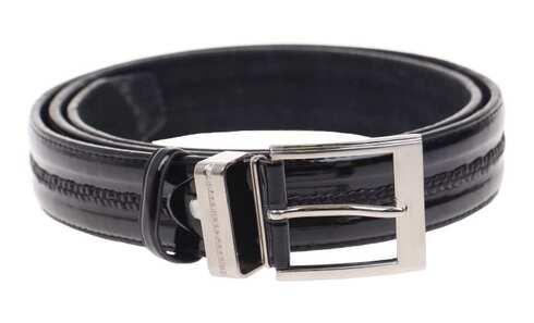 obrázek Kožený pásek černý var.60