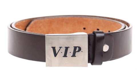 obrázek Kožený pásek hnědý var.34