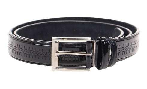 obrázek Kožený pásek černý var.64