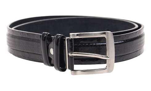obrázek Kožený pásek černý var.65
