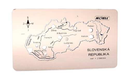 obrázek Šablona mapa Slovenské republiky