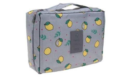 obrázok Kozmetická taška Travel čierna s citróny