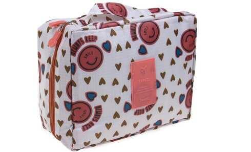 obrázok Kozmetická taška Travel so srdiečkami