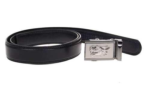 obrázek Kožený pásek černý var.72