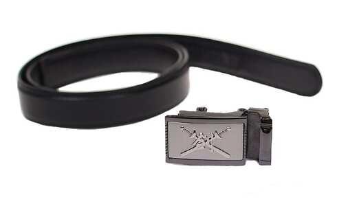 obrázek Kožený pásek černý var.74