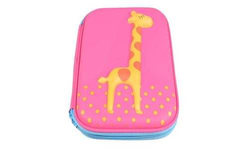 obrázek Penál 1patrový žirafa růžovvá