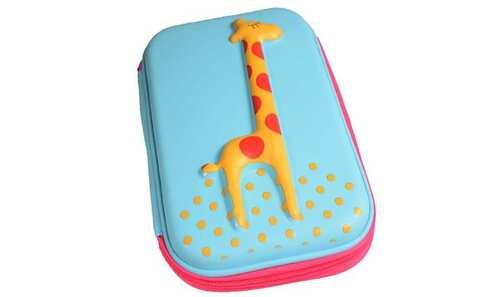 obrázek Penál 1patrový žirafa tyrkysová