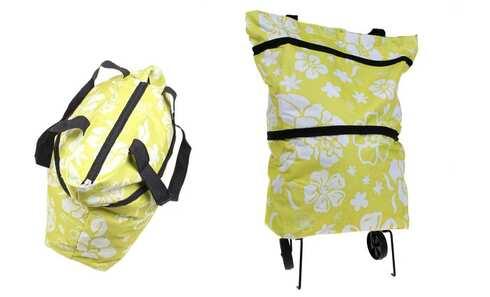 obrázek Nákupní taška s kolečky žlutá