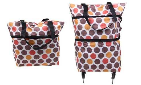 obrázok Nákupná taška s kolieskami bodkovaná