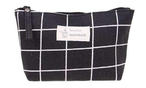 obrázek Kosmetická taška Handmade černá kostka