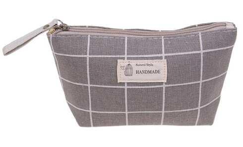 obrázek Kosmetická taška Handmade šedá kostka