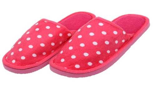 obrázek Pantofle domácí puntíkované růžové