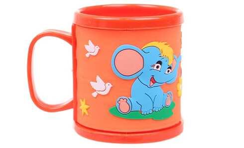 obrázek Hrnek dětský plastový (oranžový se slonem)