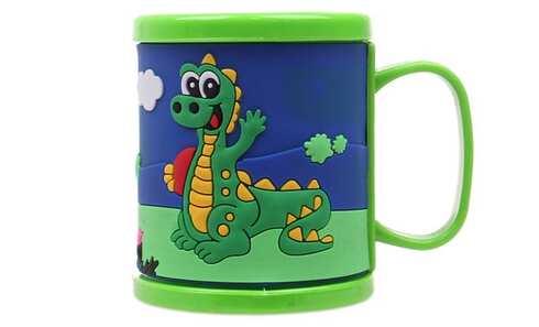 obrázek Hrnek dětský plastový (zelený s krokodýlem)