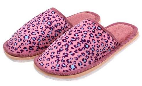 obrázek Pantofle domácí leopardí růžové vel.36/37
