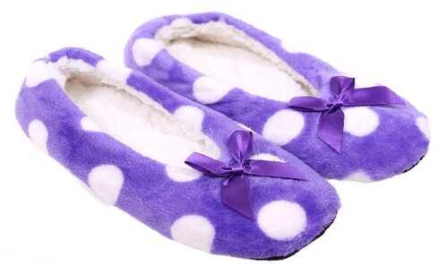 obrázek Papuče s puntíky fialové