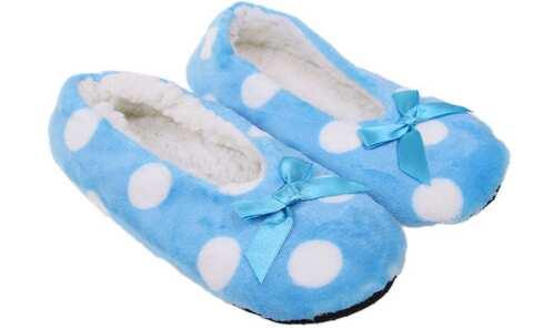 obrázek Papuče s puntíky modré