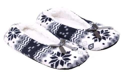 obrázek Papuče vzorované šedé