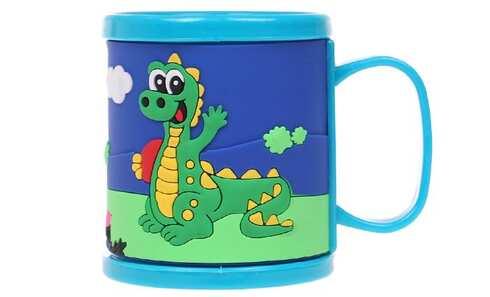 obrázek Hrnek dětský plastový (modrý s krokodýlem)