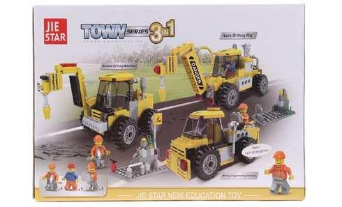 obrázek Dětská stavebnice stavební stroje 3v1