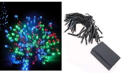 obrázek LED světelný řetěz barevný 50LED