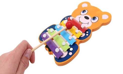 obrázek Dřevěný xylofon medvídek