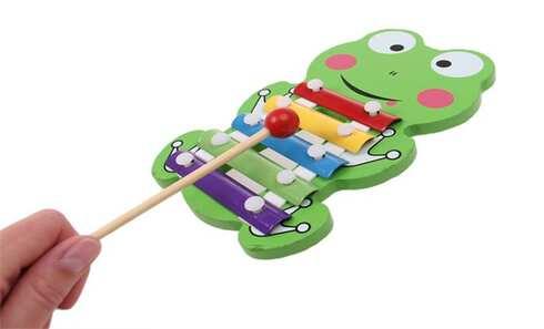 obrázek Dřevěný xylofon žába