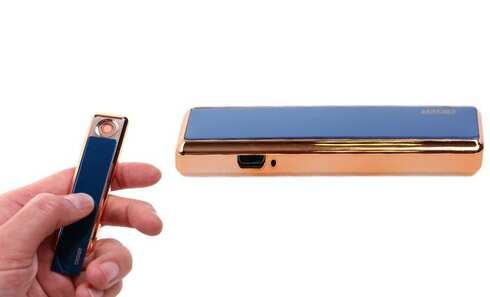 obrázek USB zapalovač modrý