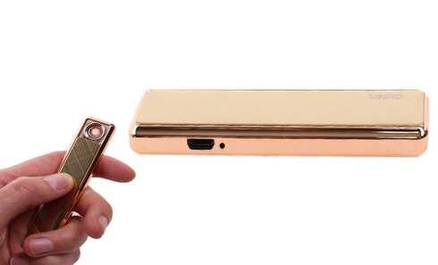 obrázek USB zapalovač zlatý