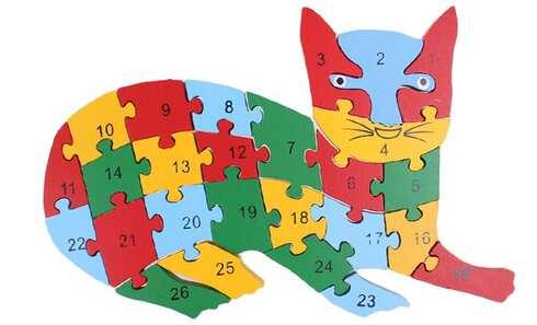 obrázek Vzdělávací dřevěné puzzle kočka