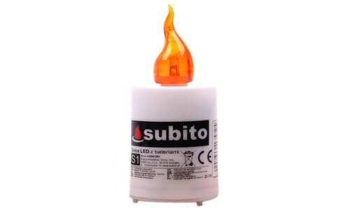 obrázek Svíčka SUBITO S1 blikací na baterie 30denní oranžová