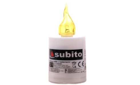 obrázek Svíčka SUBITO S1 blikací na baterie 30denní žlutá