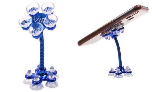 obrázek Držák na telefon s přísavkami modrý