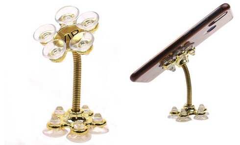 obrázek Držák na telefon s přísavkami zlatý