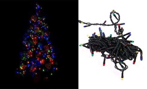 obrázek LED světelný řetěz barevný 8 funkcí